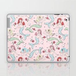 Mermaids and Roses on Pink Laptop & iPad Skin