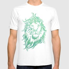 Green Lion MEDIUM White Mens Fitted Tee