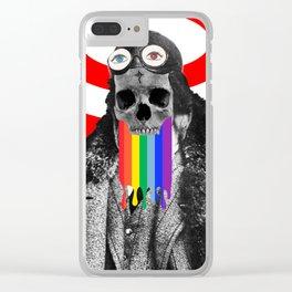 Rainbow Skull Pilot Clear iPhone Case