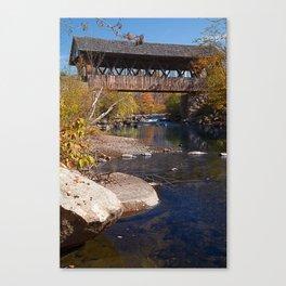 Packard Hill Covered Bridge Canvas Print