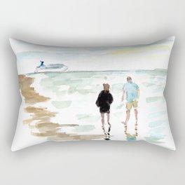 Beach Walk Rectangular Pillow