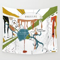naked Wall Tapestries featuring Naked Lunch by Sven Jaeckel