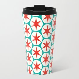 Retro Red Stars Pattern Travel Mug