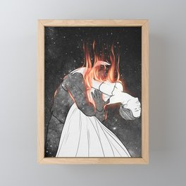 The flames of love. Framed Mini Art Print