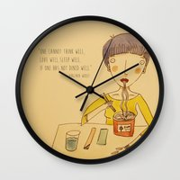 ramen Wall Clocks featuring Ramen by Ghila Valabrega
