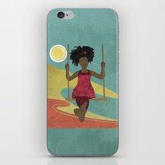 Barefoot Girl on Swing iPhone & iPod Skin