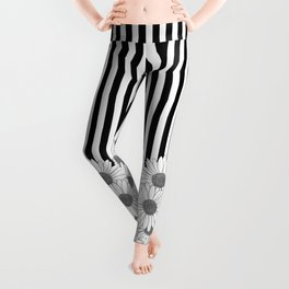 Daisy Stripe Leggings