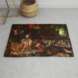 """Jan Brueghel The Elder & Hans Rottenhammer """"Christ's Descent into Limbo"""" 1593 Rug"""