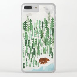 the green forest Clear iPhone Case