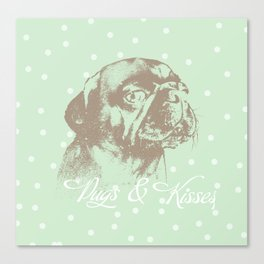 Pugs & Kisses Canvas Print