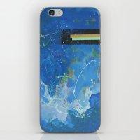 bar iPhone & iPod Skins featuring Gold Bar Green Bar by DANiELLE