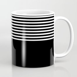 Geometric abstraction, black and white Coffee Mug