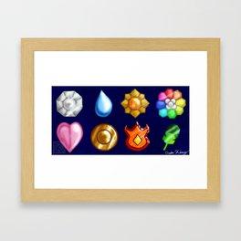 Kanto Badges - Blue Framed Art Print