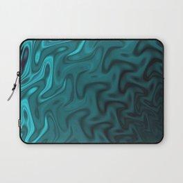 Ripples Fractal in Ocean Blue Laptop Sleeve