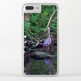 The Great Blue Heron Clear iPhone Case