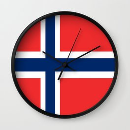 Flag of norway Wall Clock