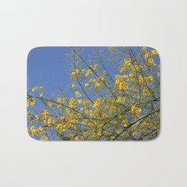Palo Brea Tree in Bloom against Desert Sky Bath Mat