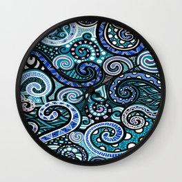 Loupy lou blu Wall Clock