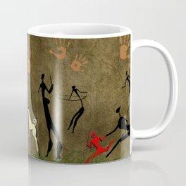 Cavemen Wall Coffee Mug