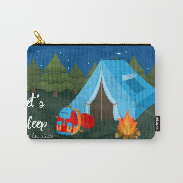 Camping blue tent Carry-All Pouch