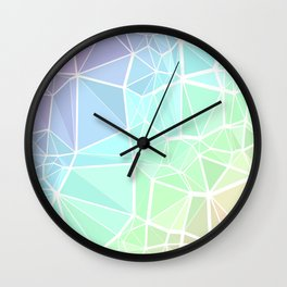 Rainbow Triangles Wall Clock