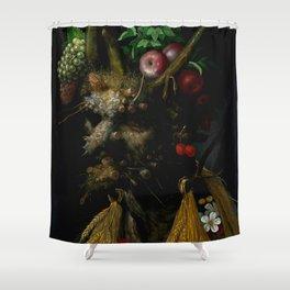 "Giuseppe Arcimboldo ""Four Seasons in One Head"" Shower Curtain"