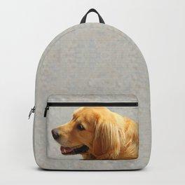 Happy Golden Retriever Backpack