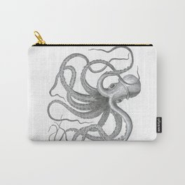 Vintage nautical steampunk octopus kraken sea monster steampunk drawing Carry-All Pouch