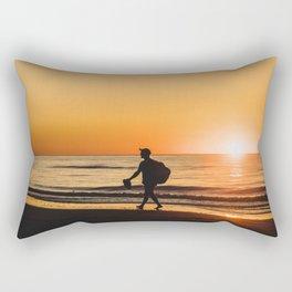 Sunset over Adriatic Sea Rectangular Pillow