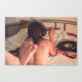 hit me with music. Canvas Print