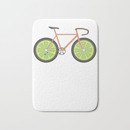 BikeLemon Bicycle BMX Bikers Cylist Bicycling Cycling Exercise Workout Pedal Gift Bath Mat