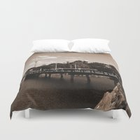 island Duvet Covers featuring island by Christophe Chiozzi