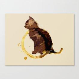 Coffy cat Canvas Print