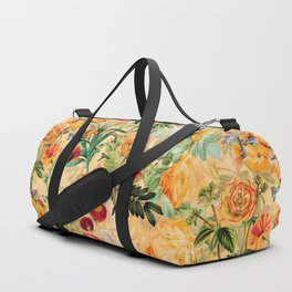 Vintage & Shabby Chic -  Sunny Gold Botanical Flowers Summer Day Duffle Bag