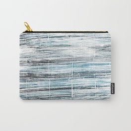 Ghost white abstract watercolor Carry-All Pouch