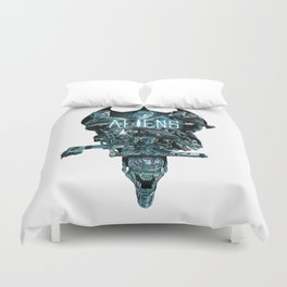 Aliens Illustration Tribute Duvet Cover