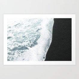 Black Sand Art Print