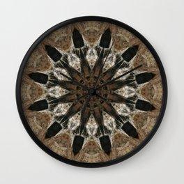 Mandala black Star Wall Clock