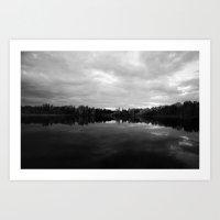 long lake BC B&W print Art Print