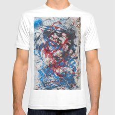 Tangled White MEDIUM Mens Fitted Tee