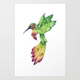 Flowerbird Art Print