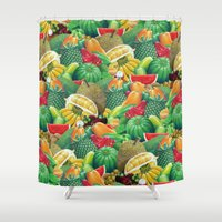 fruit Shower Curtains featuring Fruit by Christopher Forsman
