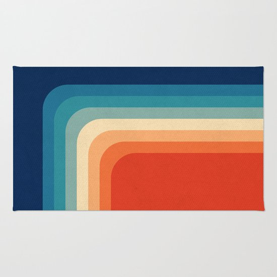 Retro 70s Color Palette Iii Rug By Alisa Galitsyna Society6