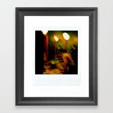 Polaroid disaster Framed Art Print