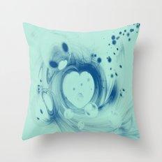 Heart glow Throw Pillow