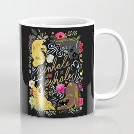 Inhale Exhale Pug Yoga Coffee Mug