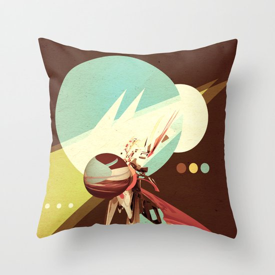 Vintage Space Poster Series I - Explore Space - It's Fun! Throw Pillow