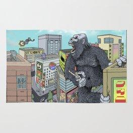 Rocket Boy vs Death Gorilla Rug