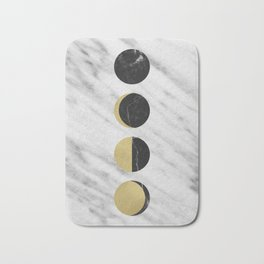 Black Moon on Marble Bath Mat