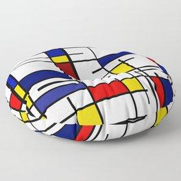 Mondrian Pattern Floor Pillow